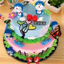 Cupcake Decorations Doraemon Topper First Birthday Gifts Baby Kids Children Party Supplies Cat Birthday Cake Topper Cake Toy Aliexpress