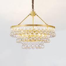 crystal droplet decorative pendant lamp