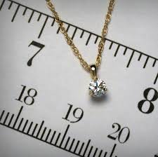 natural white diamond solitaire pendant
