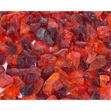 red landscape rocks hardscapes