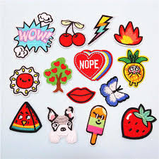 Fabric Embroidered Dog Cherry Cartoon Patch Clothes Stickers Bag Sew Iron On Applique Diy Apparel Sewing Clothing Accessories Patches Aliexpress