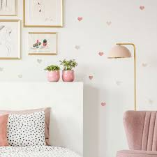 Watercolor Heart Wall Decals In Ombre Warm Colors For Neutral Nursery Decor Made Of Sundays