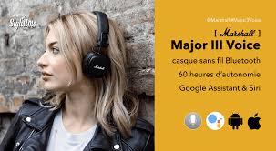 Marshall Major 3 Voice le casque vintage avec Google Assistant et Siri