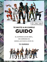 20 Invitacion Fortnite Battle Royale Videojuego Cumpleanos 480