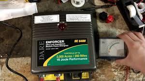 Dare Electric Fence Energizer Repair Dare De 6400 Youtube