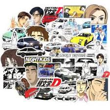 Hot Price 0a9c68 50pcs Initial D Stickers Laptop Diy Fridge Guitar Luggage Skateboard Phone Car Bike Waterproof Graffiti Sticker Decals Kid Toys Cicig Co