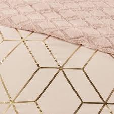 Addie King 3pc Metallic Print Reversible Comforter Set Blush | Comforter  sets, Metallic prints, Blush wallpaper
