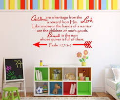 Bible Verse Decal Christian Wall Decal Children Are A Etsy