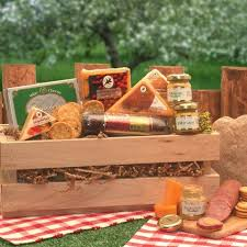 sausage cheese crate sausage gift