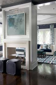 see through double sided fireplace with