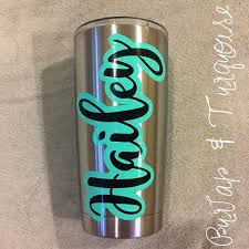 Custom Layered Name Decal For Yeti Rambler 20 Oz This Decal Is Perfect For The Yeti Ramble Laptops Coolers And Mo Yeti Cup Designs Cup Decal Tumbler Decal