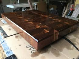 large custom cutting board walnut end