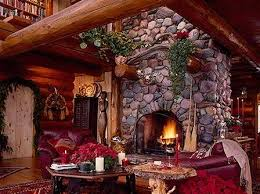 standout river rock fireplace designs
