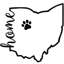 Ohio Home With Paw Vinyl Decal Etsy