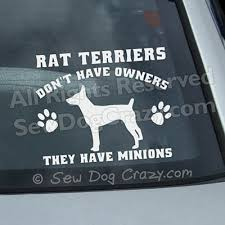Rat Terrier Minions Decal Sew Dog Crazy