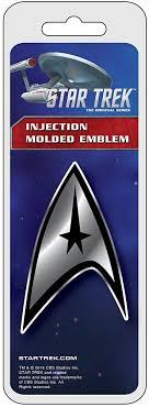 Star Trek Badge Chrome Colored Decal Chr41519