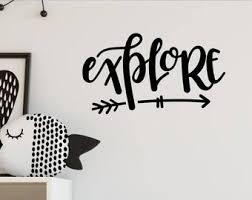 Explore Wall Sticker Etsy