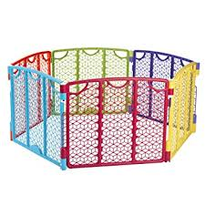 Amazon Com Versatile Play Space Indoor Outdoor Play Space Portable 18 5 Square Feet Of Enclosed Space Multi Color Baby