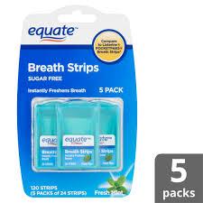 sugar free fresh mint breath strips