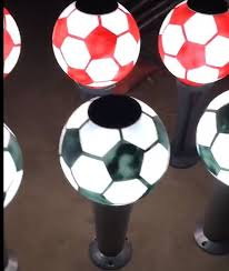 Football Style Solar Post Lights Solar Bollard Lawn Lights Outdoor Led Garden Lights Home Fence Lights