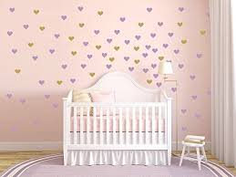Amazon Com Heart Wall Decal Gold Heart Wall Decal Mini Heart Decal Large Heart Decal Baby Wall Decal Gift Handmade