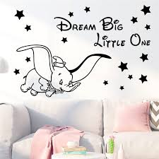 Creative Disney Dumbo Wall Stickers For Kids Rooms Home Decor Cartoon Flying Elephant Wall Decals Vinyl Mural Art Diy Wallpaper Wall Stickers Aliexpress