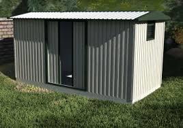 garden shed with sliding door