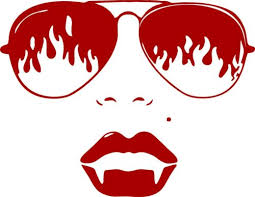 Girl Woman Vampire Sunglasses Lips Car Truck Window Laptop Vinyl Decal Sticker Home Garden Decor Decals Stickers Vinyl Art