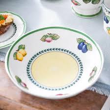 french garden fleurence flat bowl