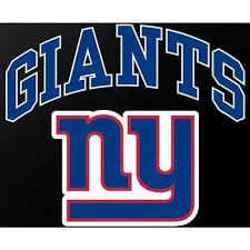 N Y Giants Full Color Die Cut Transfer Decal 6 X 6