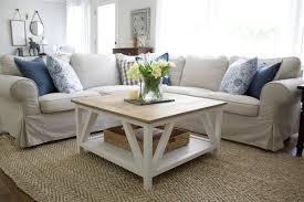modern farmhouse square coffee table