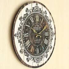 large wall clock tracery vintage rustic