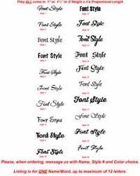 Personalized Name Vinyl Die Cut Peel N Stick Decals Stickers For Water Bottles Ebay