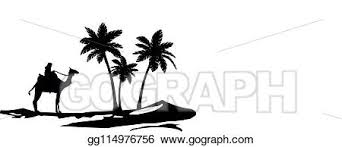 Vector Art Camel Palm Tree Wall Decal Desert Dune Islamic Clipart Drawing Gg114976756 Gograph