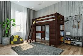 Jackpot Kids All In Ones Kensington Twin All In One In Espresso W Table Bookcase And Dresser Belfort Furniture Loft Beds