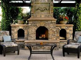 exteriors outdoor fireplace plans