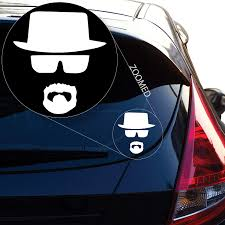 Walter White Heisenberg Breaking Bad Decal Sticker For Car Window Laptop Motorcycle Walls Mirror And More Car Stickers Aliexpress
