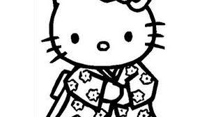 Tranh tô màu Hello Kitty đơn giản đẹp nhất cho bé yêu