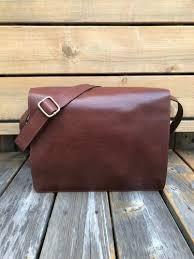 full grain leather messenger bag