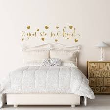 You Are So Loved Wall Decal Gold Wall Decal Hearts Wall Etsy