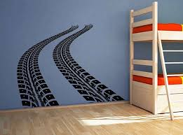 Tire Tracks Decal Tire Track Wall Decal Tire Track Sticker Road Track Decal Race Track Decal Race Track Sticker Sports Wall Decals Tire Tracks Kids Wall Decals