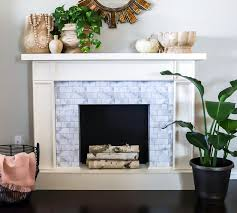 er friendly diy faux fireplace