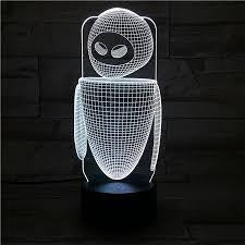 Robot Eva Table Lamp Bedroom Eve Decoration Cartoon Rgb Touch Sensor C Lightfurnitures