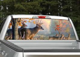Buck Deer Scenery Hunting Rear Window Decal Graphic Truck Suv Ebay