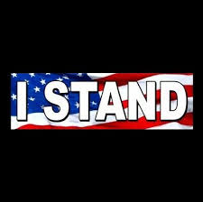 I Stand For The National Anthem Anti Nfl Decal Bumper Sticker Conservative Gop