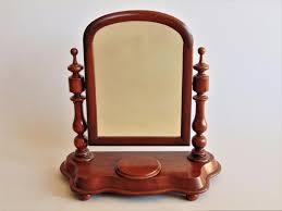 neat victorian mahogany cheval mirror