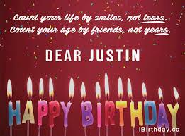 justin candles happy birthday quote happy birthday