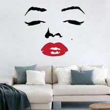 Wall Stickers Large Marilyn Monroe Wall Decal Sticker Marilyn Monroe Wall Decals Vinyl Art Stickers Vinyl Art Wall Decal Sticker