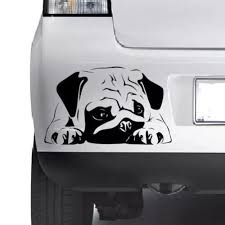 Cute Pug Dog Lovely Vinyl Decal Sticker Car Wall Bumper Laptop Window Xbox Wish