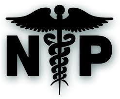 Amazon Com Np Caduceus Decal For Nurse Practitioner Hospital Health Care Medical Field Worker Windshield Or Bumper Sticker 5 X 6 1 4 Inch In Black Kitchen Dining